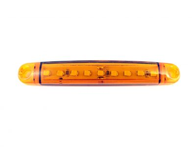 9 led Side Marker light Indicator Trailer Truck Orange 12v 24v