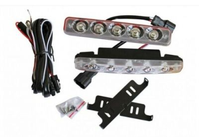 2 x 5 LED DRL, daylight, work light, car, truck, offroad light, 12 v