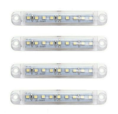 4 x 9 led Side Marker light Indicator Trailer Truck White 12/24v
