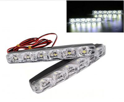 2 x LED 9W Front lights DRL Daytime Running SUV 12v