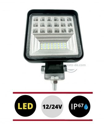 42 LED Work lights 12V 24V 126w 6000lm Lamp for Car Lorry Tractor ATV Flood Light