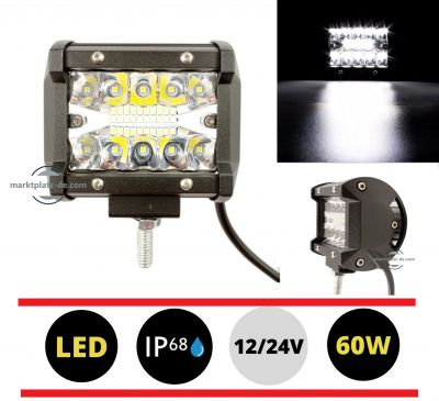 Headlight 60w LED Work Lamp Fog Driving Light 4500LM