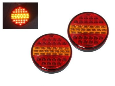 2 x Led Hamburger Rear Tail Light for Truck Trailer Lorry 24v