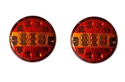 2 x Led Hamburger Rear Tail Light for Truck Trailer Caravan 24v