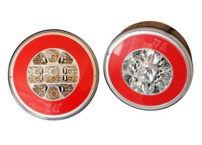 2 x Led Hamburger Neon Rear Tail Light for Trailer Caravan 12v 24v