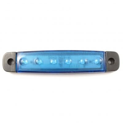 LED Side Marker Light Position Clearance Blue Truck Trailer Van 24v