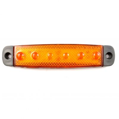 6 LED Light Lamp position Marker Clearance 24V Orange truck