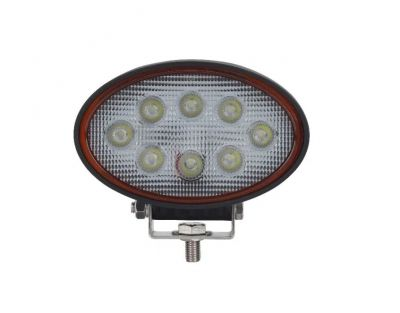 24W LED Oval Luces de Trabajo 143mm Cosechadoras Tractor ATV 4x4 12V 24V