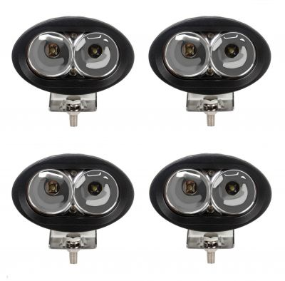 4 x DRL, daylight, work light, car, truck, offroad light, tractor,4x4, ATV, 20W LED 12/24V