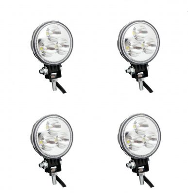 4 x DRL, daylight, work light, car, truck, offroad light, boat,4x4, ATV, 9W LED 12/24V