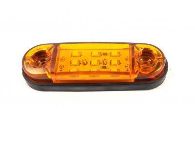 Side Marker light Indicator Trailer Truck 9 LED Orange 24v