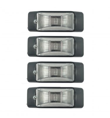 4 x Position Side Marker Light Clearance Truck,Trailer White  12v