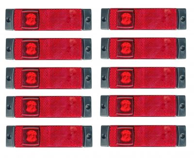 10 x 4 LED Light  Position Side Marker Clearance Truck,Trailer Red SMD 12/24v