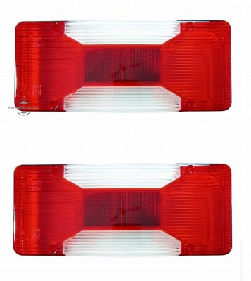 2 x Iveco Daily Tail Reverse Back Brake Indicator lights lens Truck 2006 E9