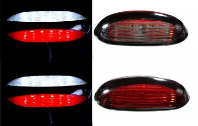 2 x 12 LED Side Clearance Marker light Indicator Trailer Truck Lorry Caravan Red/White 12/24v