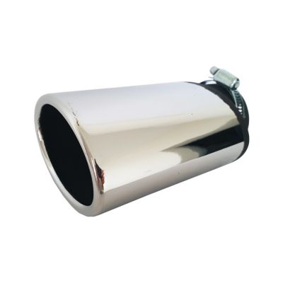Tailpipe Exhaust Car Silver Chromed Oval Tunnig 175mm