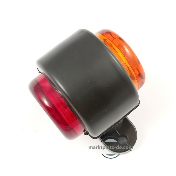 Caravana Rojo Cami/ón 4 Luces LED de Advertencia Indicadoras Universales de 12 V // 24 V para Cami/ón Remolque Furgoneta Riloer Luces de Posici/ón Laterales del Coche