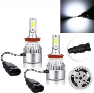 2 x LED H11 Headlights,led bulbs,car lights,kit cob lights DRL 72w 7600lm