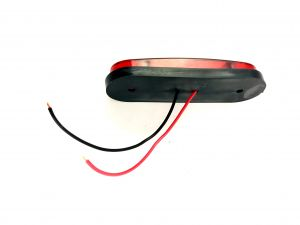Side Marker light Indicator Trailer Truck 9 LED Red 12v