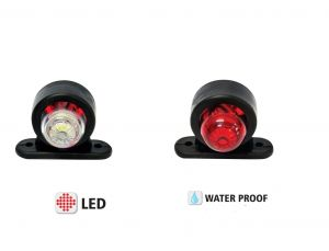 Led Feux lateral indicateur camion,remorque leds rouge / blanc 12/24v