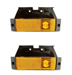 2 x 4 LED Light  Position Side Marker Clearance Truck,Trailer Orange SMD 12/24v