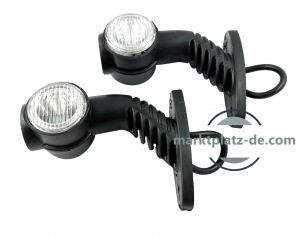 2 x Led Stalk Position lights led lights marker indicator truck trailer e-mark 24V