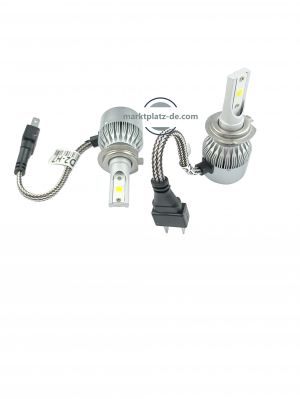 2 x LED H7 Headlights,led bulbs,car lights,vehicle led lights 90w 9000lm