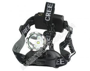 Police Rechargeable 350 lumens brightest LED headlamp with CREE XM-L T6
