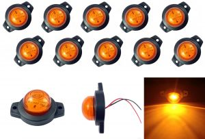 LED Indicator luminos lateral remorcă Camion galben 12 / 24v