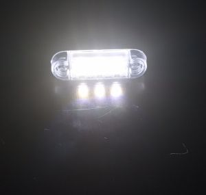 3 Led Mini Feu Indicateur de position latéral ,remorque camion Blanc Man Daf Iveco Scania 12/24v