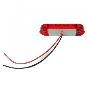 3 Led Mini Feu Indicateur de position latéral ,remorque camion Rouge Man Daf Iveco Scania 12/24v
