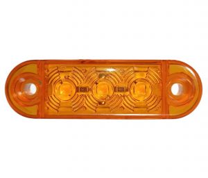 3 Led Mini Feu Indicateur de position latéral ,remorque camion Ambre Man Daf Iveco Scania 12/24v