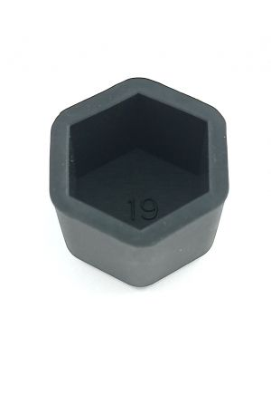 Rim Wheel Lug nut cover caps silicone black 19mm