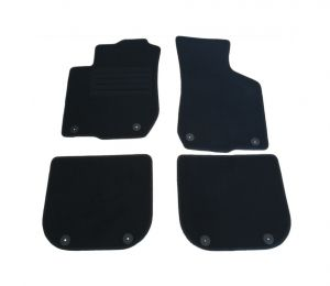 Black Carpet Floor Mats 4 pieces Set for Audi A3 1996-2003