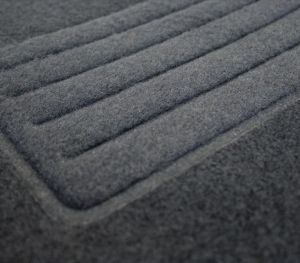 Black Carpet Floor Mats 4 pieces Set for Audi A4 2008 - 2015