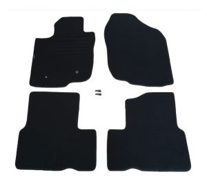 Black Carpet Floor Mats 4 pieces Set for Toyota RAV4 2006 - 2012