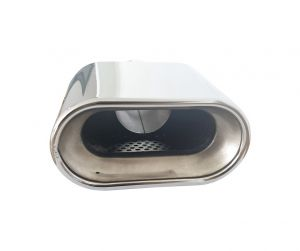 Tailpipe Exhaust Car Black Silver 180mm