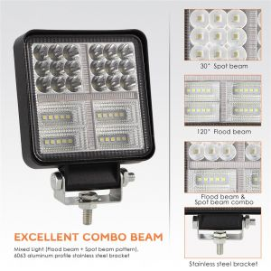 LED Work lights 12V 24V 114w 7000lm Lamp Combo Spot Flood Light