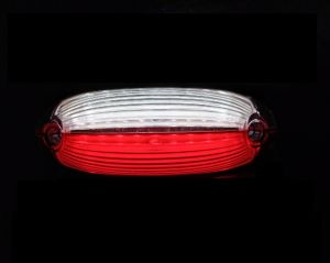 2 x 18 LED Side Clearance Marker light Indicator Trailer Truck Lorry Caravan Red/White 12/24v