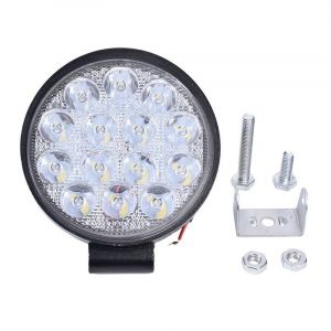 LED Round Work Light 42W Lamp Fog Offroad Driving Light Black
