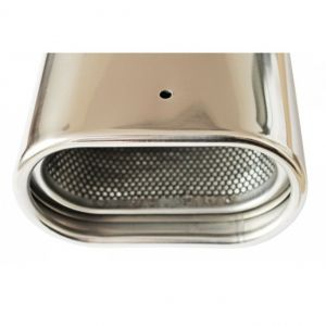 Tailpipe Exhaust Car Silver Sport Tunnig 165mm