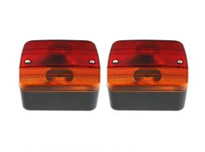 2 x Tail Rear Lights for Trailers Caravane Tractors 12v