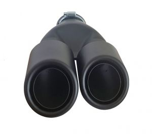 Black Matte Tailpipe Exhaust Car Double 260mm