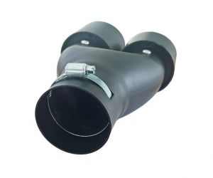 Black Matte Tailpipe Exhaust Car Double 265mm