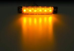 6 LED Feux Lateral Indicateur Camion Remorque 12v orange