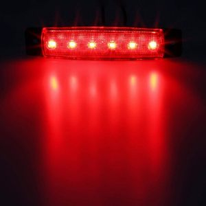 6 LED Feux Lateral indicateur Camion Remorque 24v Rouge