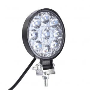 LED Round Work Light 27W Lamp Fog Offroad Driving Light