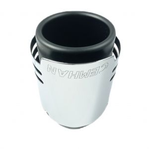 Tailpipe Exhaust Car Black Silver Chromed Sport Tunnig 170mm