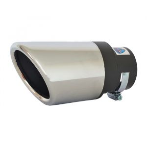 Tailpipe Exhaust Car Silver Beveled Tunnig 145mm