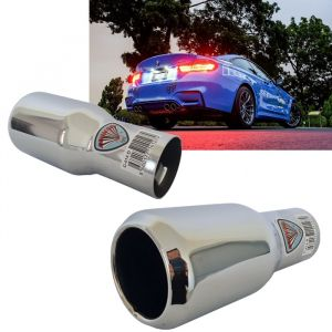 Tailpipe Exhaust Car Silver Chromed Tunnig 163mm